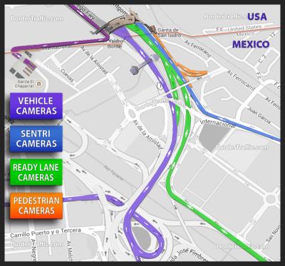 San Ysidro / Tijuana Live Traffic Cams